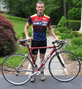 ron with keiths bike